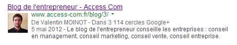 Auteur Google plus