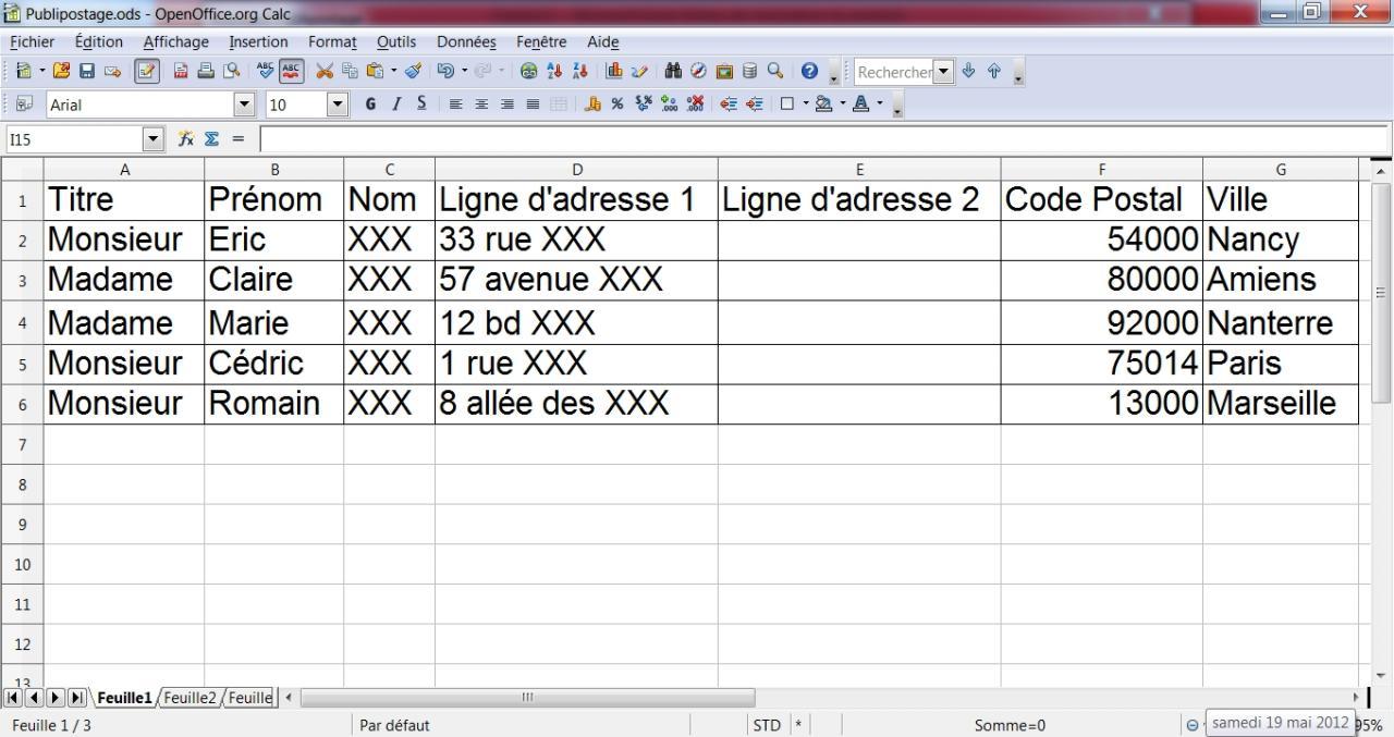 Faire un publipostage avec OpenOffice 1/12