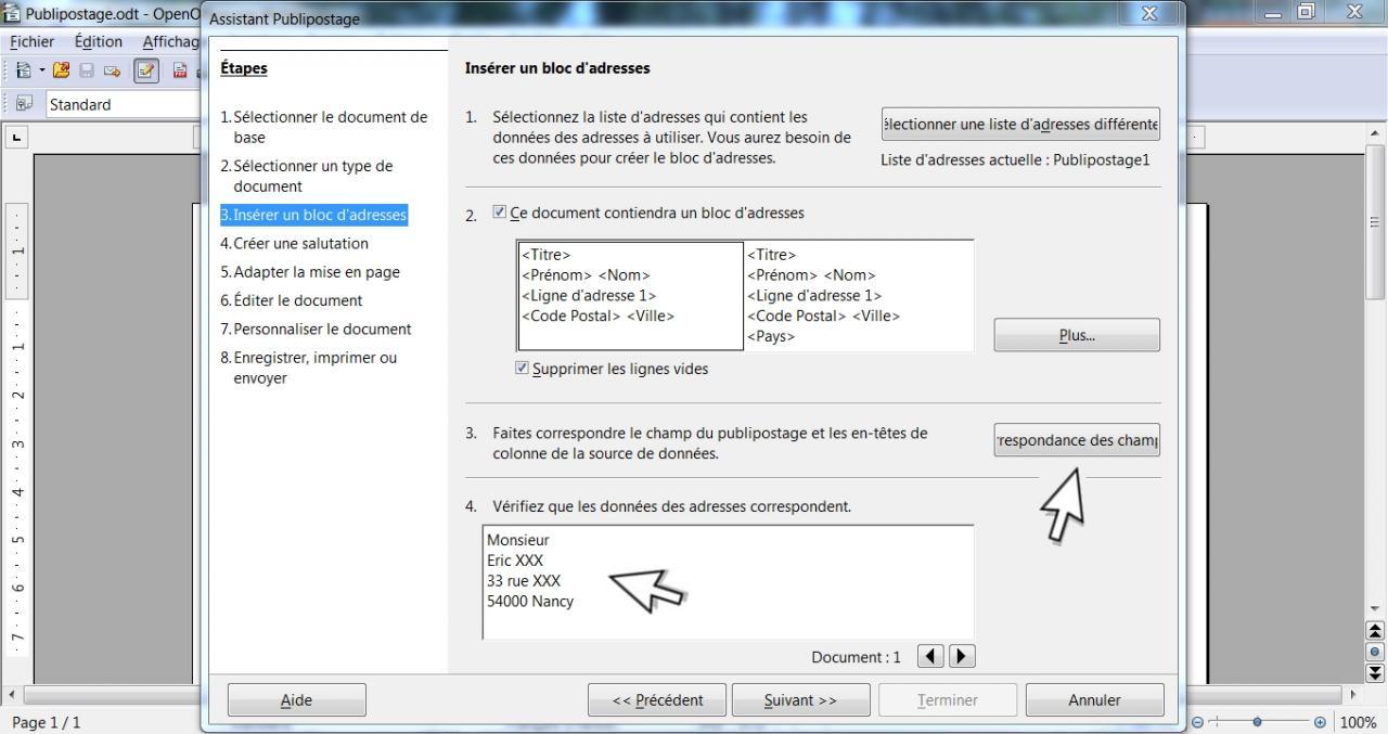 Faire Un Publipostage Avec OpenOffice 7 12